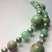 Бусы из нефрита, жемчуга и зеленой яшмы арт.0177